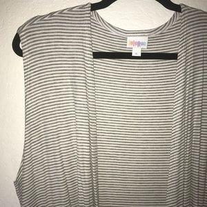 Cream w/ Gray Stripes Joy BNWT LuLaRoe XL